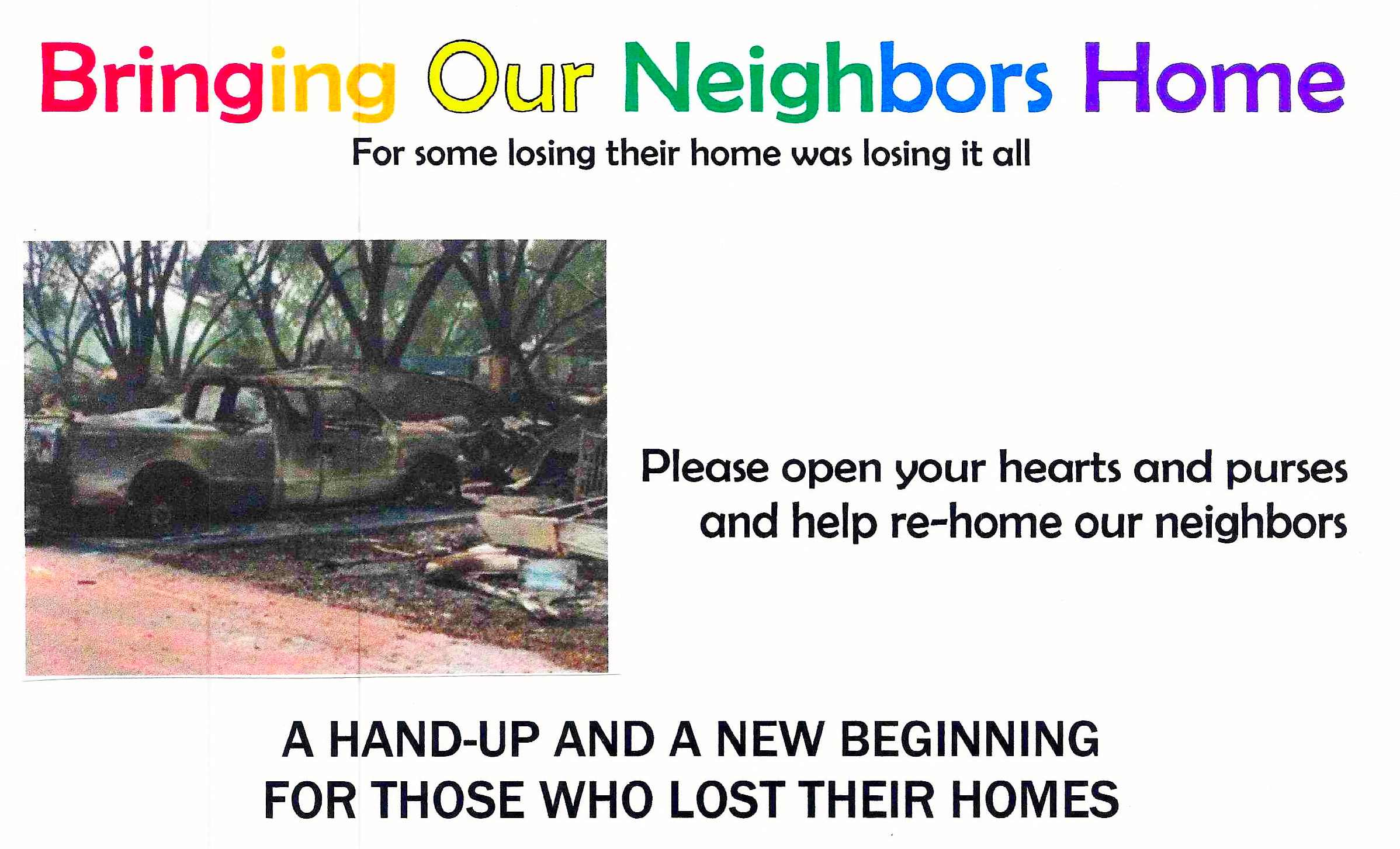Bringing our neighbors home
